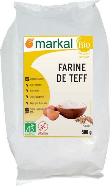 MARKAL Farine Blanche De Teff - Sans Gluten, 500 g