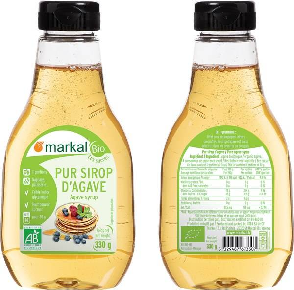 MARKAL Sirop D'Agave, 330 g