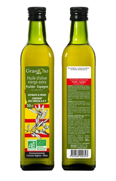 Sana Vita Huile d'Olive 100% Espagne Vierge Extra, 50 g