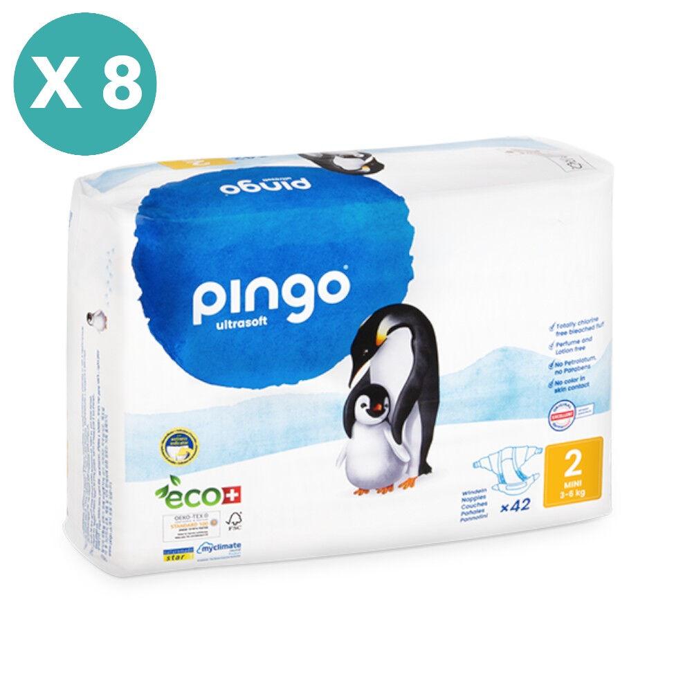 Popi-shop PINGO couches écologiques jetables t2 (3-6 kg) - pack x 8 sachets...