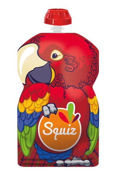Squiz 1 gourde réutilisable 130ml - collection amazonie - perroquet