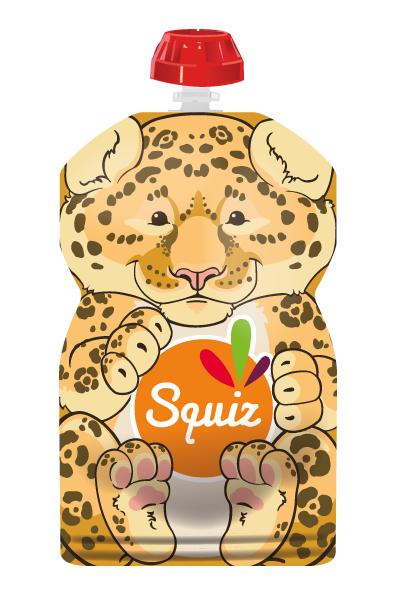 Squiz 1 gourde réutilisable 130ml - collection amazonie - jaguar