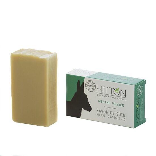 Hitton Savon au lait d'ânesse bio - Menthe poivrée  HITTON