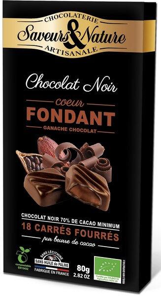 Sana Vita Carrés de chocolat noir suprême fondant, 80 g