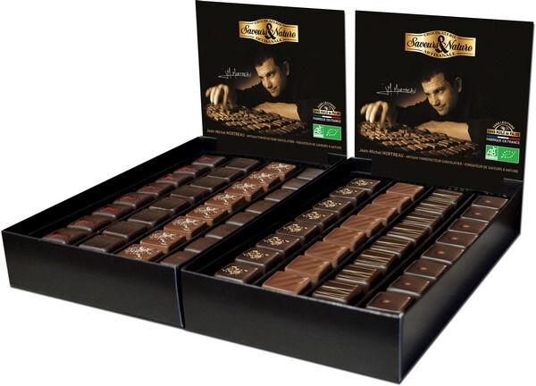 Sana Vita Bonbon de chocolat au caramel à la fleur de sel enrobé de...
