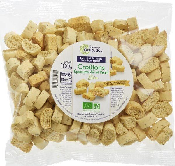 Sana Vita Croûtons à la farine d'Epeautre Ail & Persil, 100 g