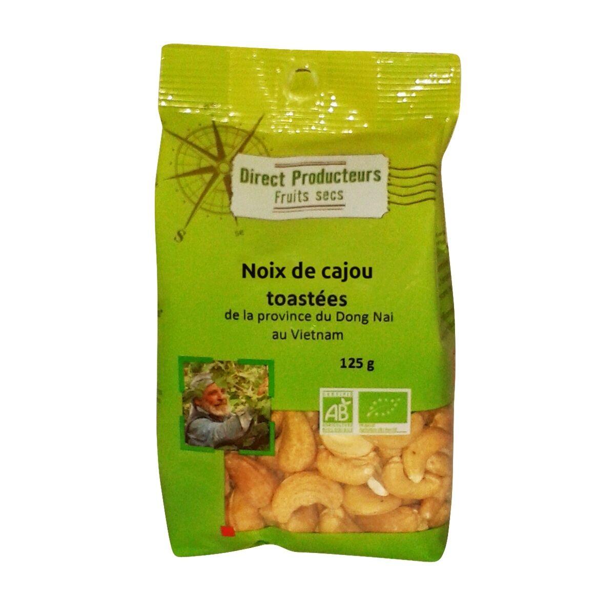 DIRECT PRODUCTEURS Noix de cajou toastées bio & équitable sans sel