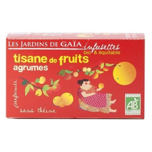 JARDINS DE GAÏA Tisane parfumée de fruits agrumes bio