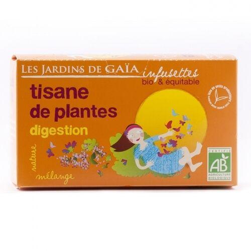 JARDINS DE GAÏA Tisane de plantes digestion bio