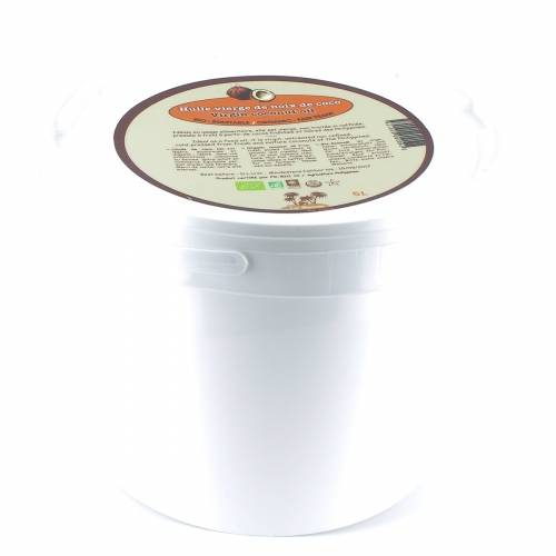 LA MAISON DU COCO Huile vierge de noix de coco bio & équitable en seau 5 L