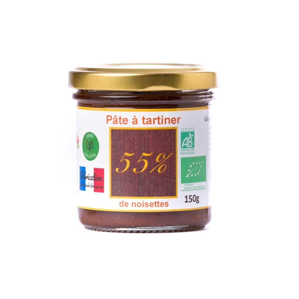 Natural'sace Pâte à tartiner bio 55% de noisettes - 150g  DLUO: 08/04/2020