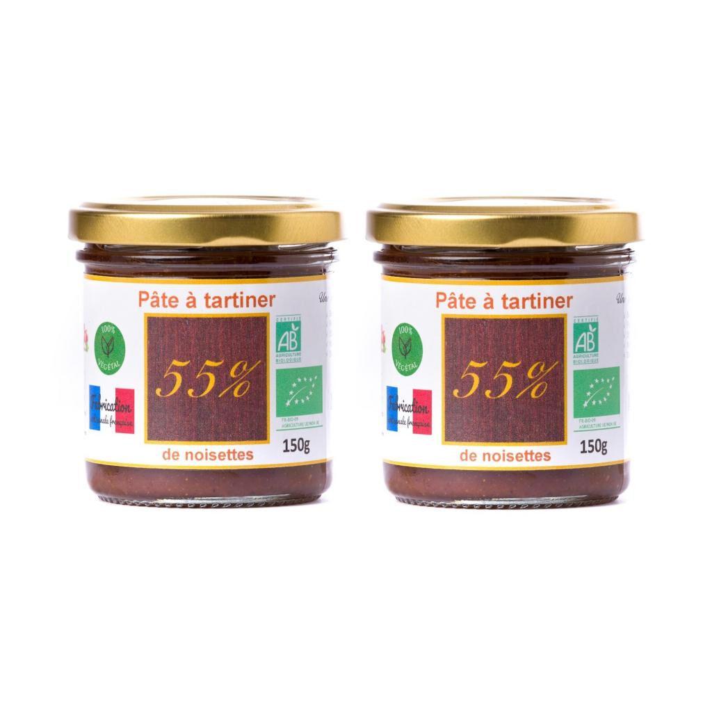 Natural'sace Offre spéciale lot de 2 Pâte à tartiner bio 55% 150g DLUO...
