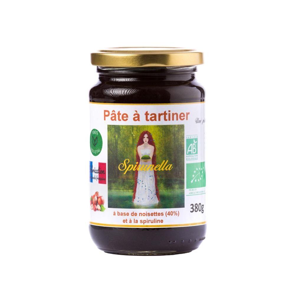 "Natural'sace Pâte à tartiner bio à la spiruline ""Spirunella"" - 380g - DLUO:..."