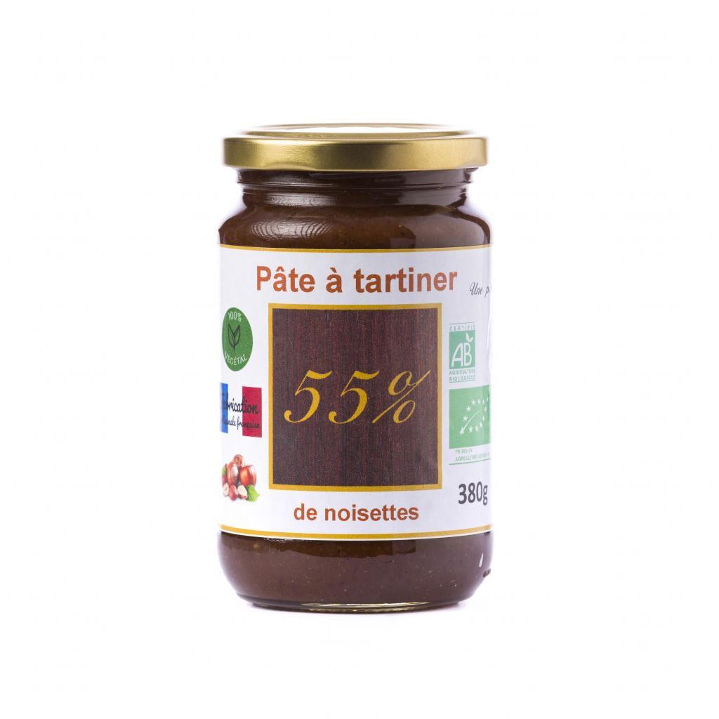 Natural'sace Pâte à tartiner bio 55% de noisettes - 380g, DLUO dépassée, -30%