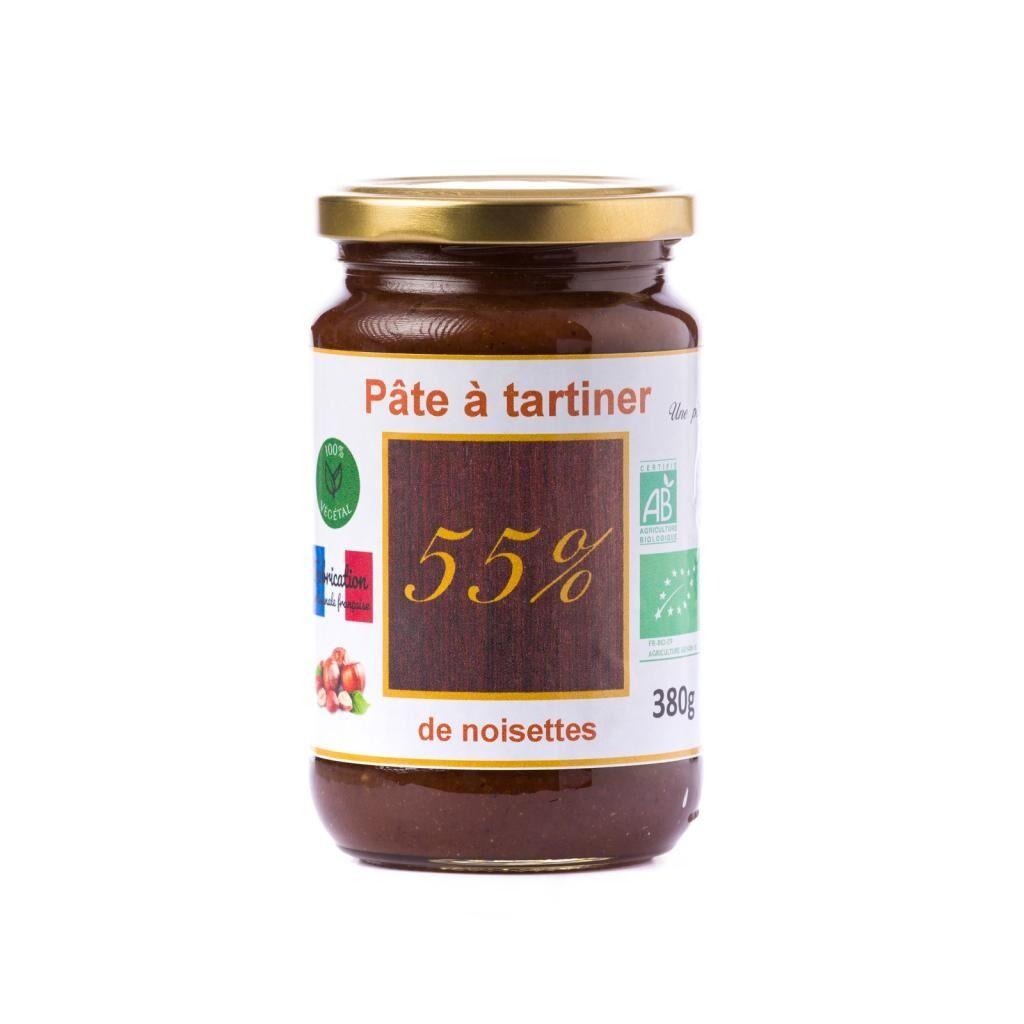 Natural'sace Pâte à tartiner bio 55% de noisettes - 380g  DLUO: 08/04/2020