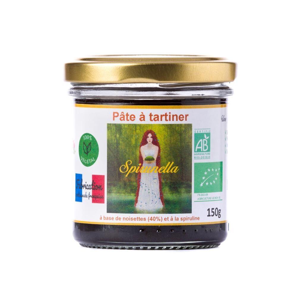 "Natural'sace Pâte à tartiner bio à la spiruline ""Spirunella"" - 150g - DLUO:..."