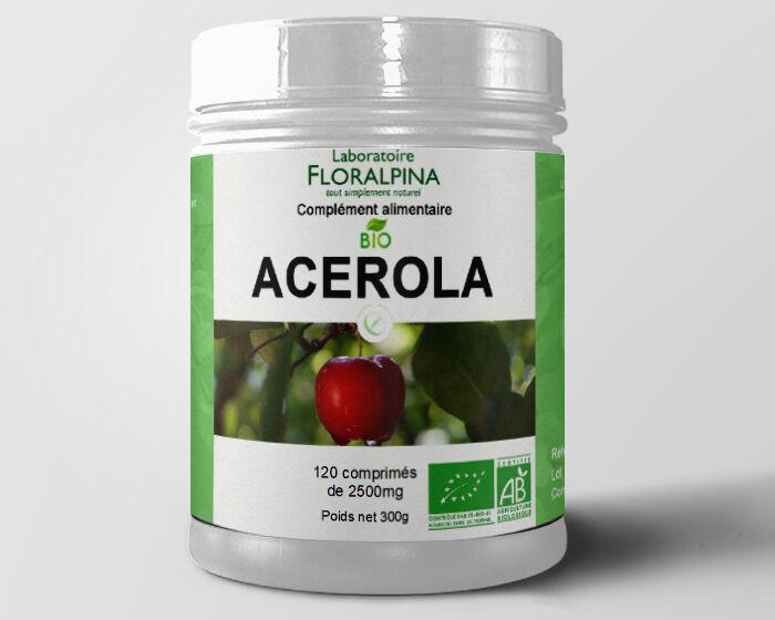 Rue Des Plantes Acérola bio 120 comprimés de 1000mg, riche en vitamine C, cure 2...