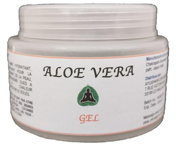 Ayushkar Diffusion Aloe Vera Premium Gel, nature, 100% naturel - 100G