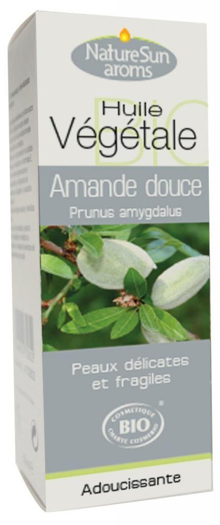 Essentielbio Amande douce Bio - Prunus amygdalus -50 ml - Huile végétale.