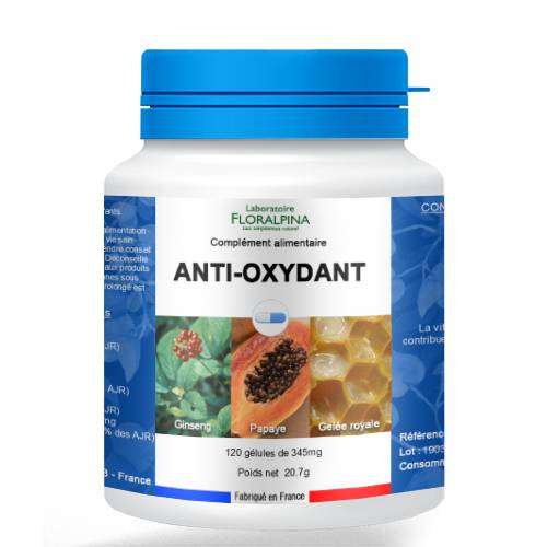 Rue Des Plantes Antioxydant 120 gélules, source d'antioxydants dont la vitamine C...