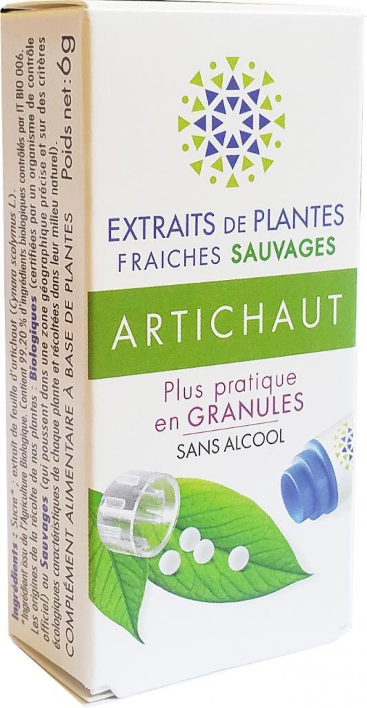 Kosmeo ARTICHAUT Teinture Mère  d'extaits de plantes fraiches granules ...