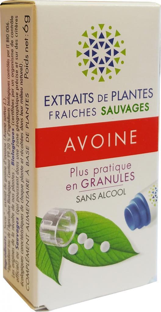 Kosmeo AVOINE Teinture Mère  d'extaits de plantes fraiches granules ...