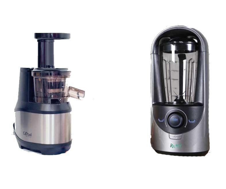 Carbel, La Santé Pur Jus MAXI PACK : Extracteur Carbel CGX-002 + Blender sous vide REMY gris