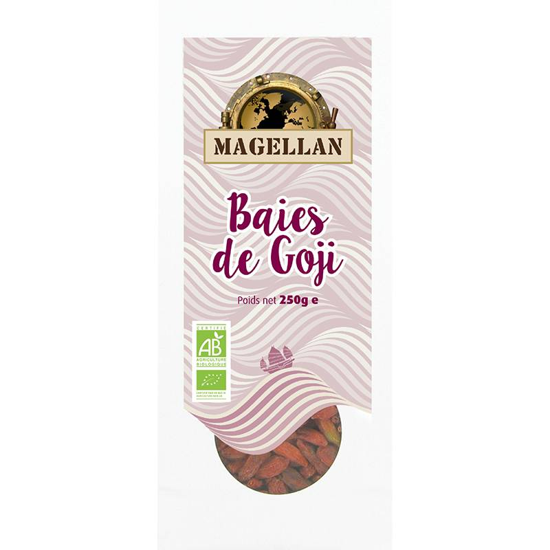 Biorgania Baies de goji BIO 250g - sachet vrac Magellan