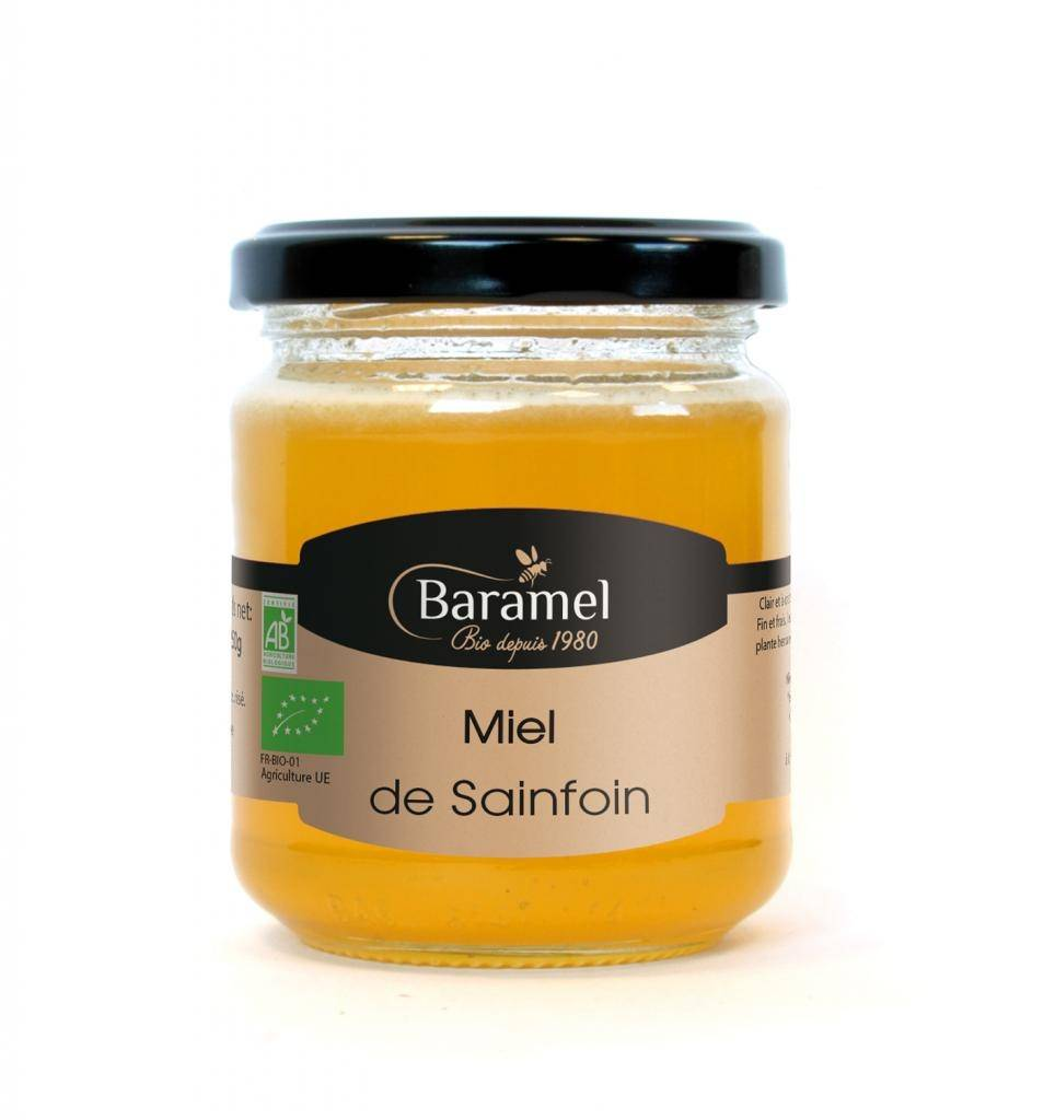 Baramel Miel de Sainfoin biologique 500gr - Baramel