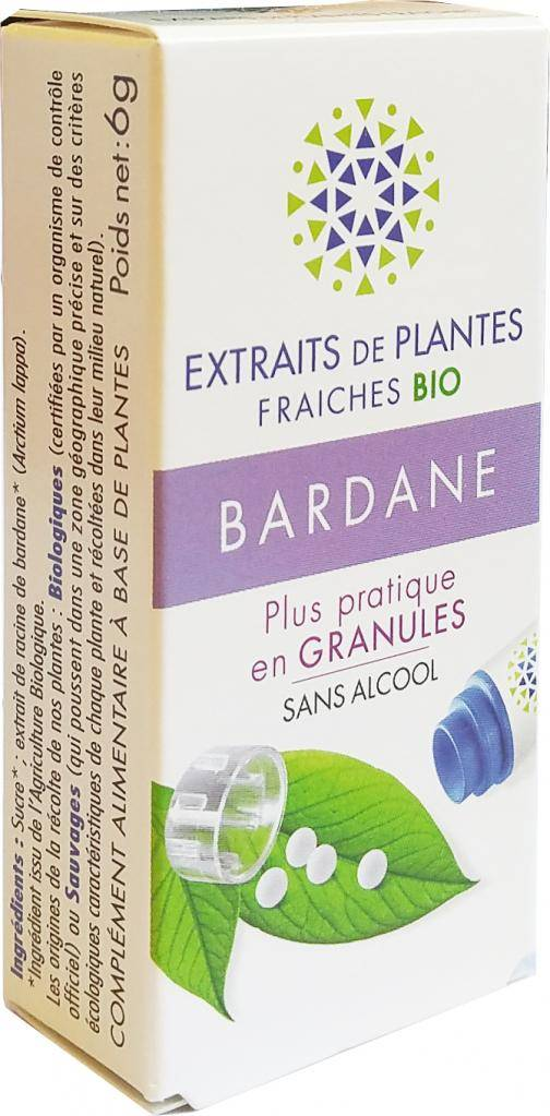 Kosmeo BARDANE Teinture Mère  d'extaits de plantes fraiches granules ...
