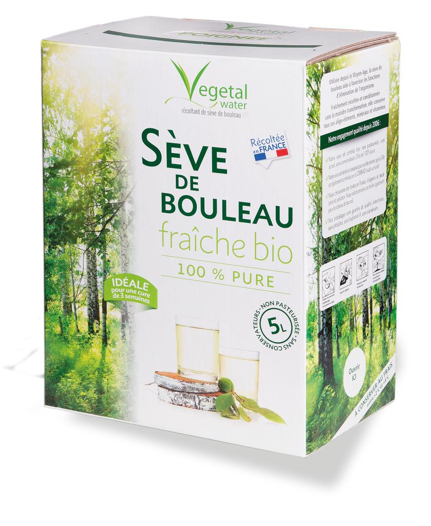 Vegetal Water SEVE DE BOULEAU NON PASTEURISEE FRAICHE - 5L