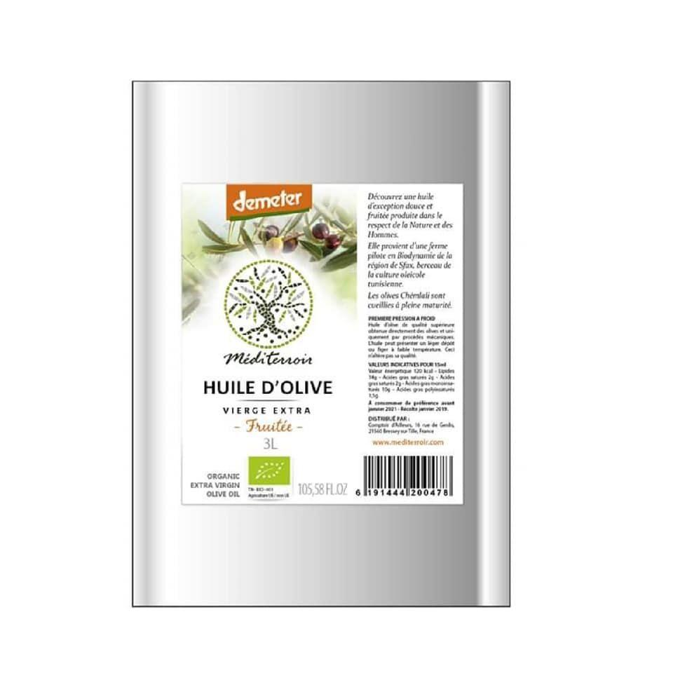 Comptoir D'ailleurs Huile d'olive bio demeter Mediterroir 5L