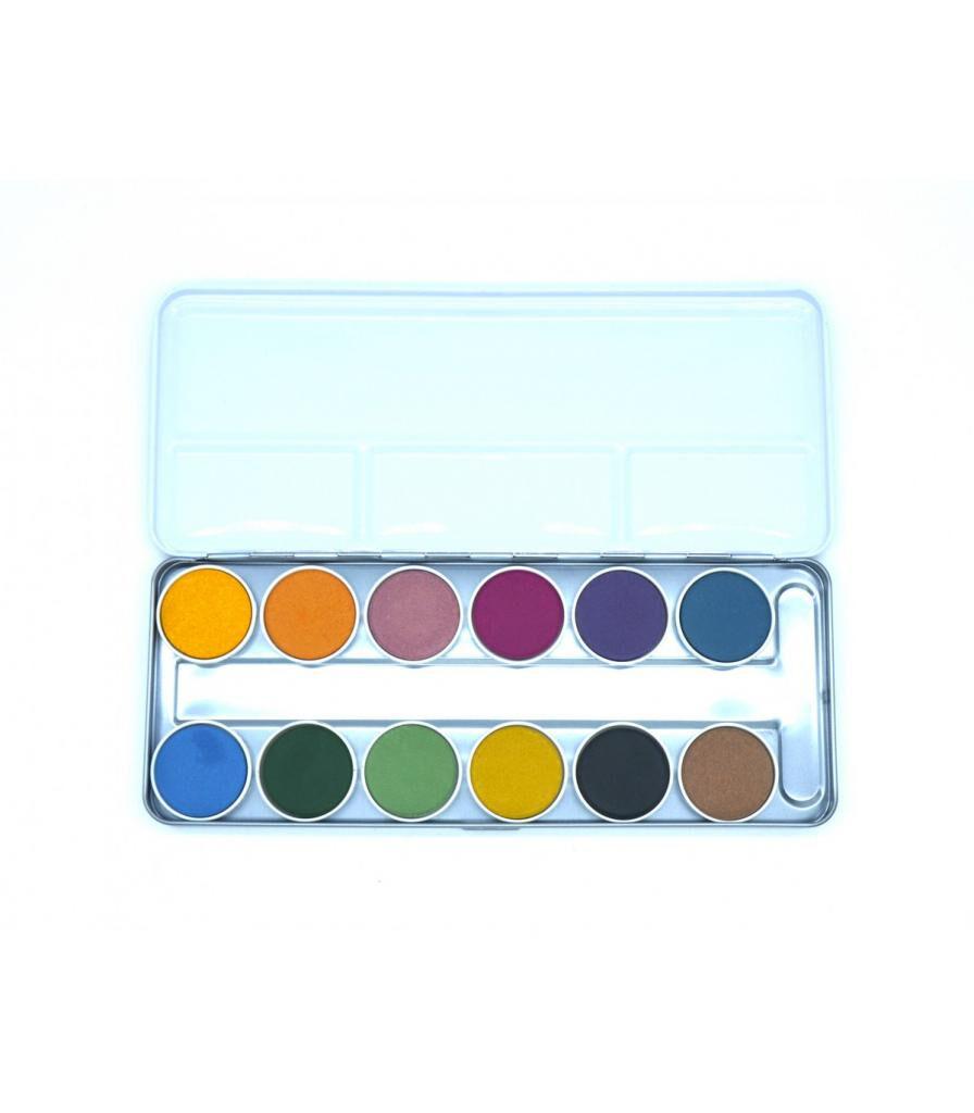 Jolie PlanÈte Boîte de peinture à l'eau : Aquarelle de 12 couleurs végétales