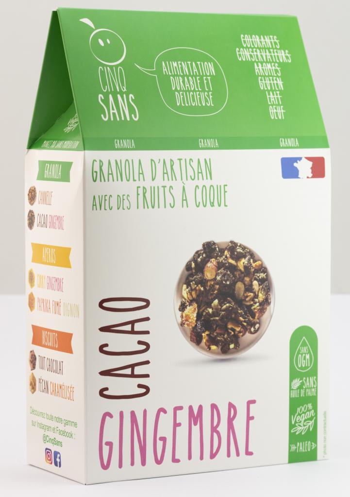 5 Sans Granola cacao gingembre