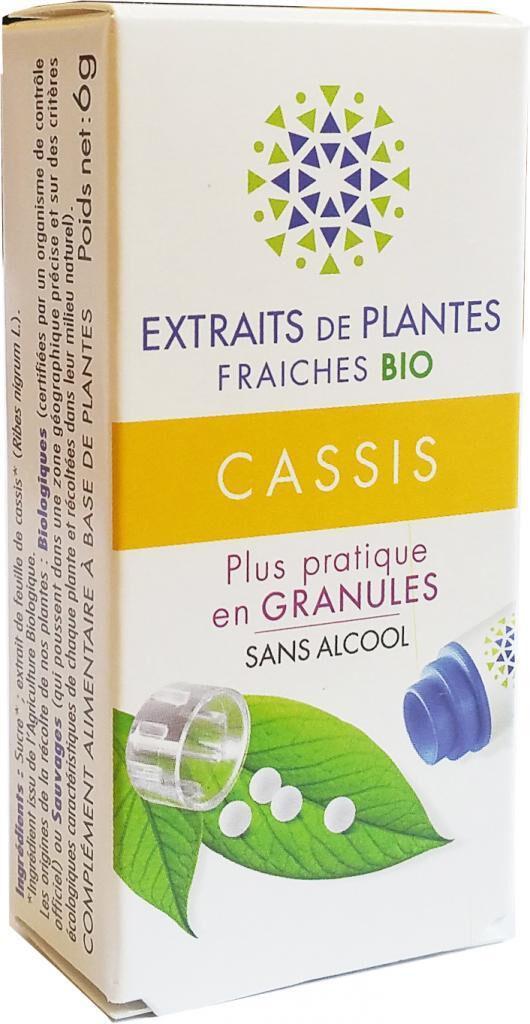 Kosmeo CASSIS Teinture Mère  d'extaits de plantes fraiches granules ...