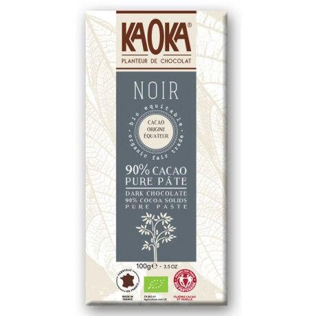 Les Délices De Sarah CHOCOLAT NOIR 90% Cacao Pure Pâte Bio