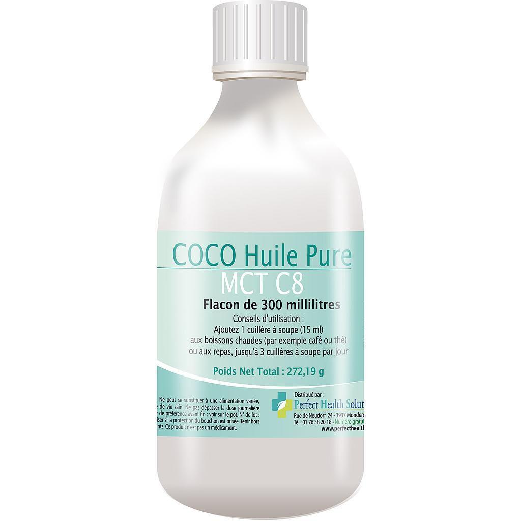 Perfect Health Solutions COCO Huile (Pure MCT C8) - Pour une bonne santé - Flacon de 300 ml