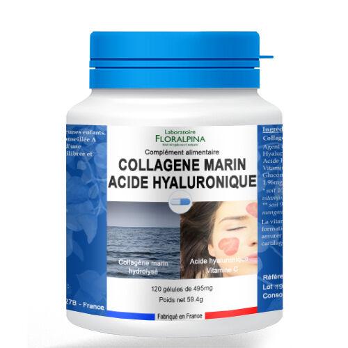 Rue Des Plantes Collagène marin - Acide hyaluronique 120 gélules, vitamine C...
