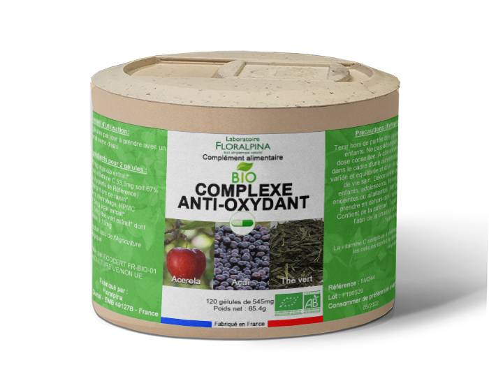 Rue Des Plantes Complexe anti-oxydant BIO - 120 gélules, La vitamine C contribue...