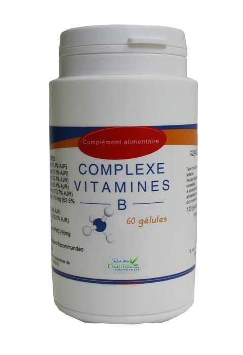 Rue Des Plantes Complexe vitamines B 60 gélules, contribuent à des fonctions...