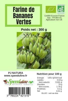 EQUITABLE Farine de bananes vertes BIO EQUITABLE - 300 g