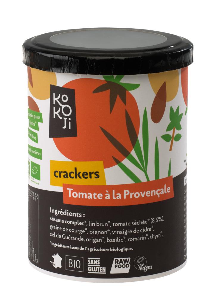 Kokoji Crackers Tomate à la Provençale Bio - 80 g - sans gluten