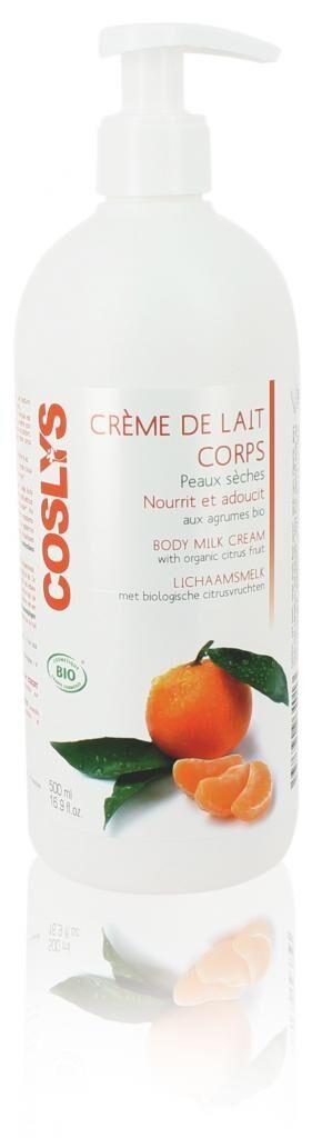 COSLYS Crème de lait - Peaux sèches. Nourrit et adoucit. Aux agrumes...