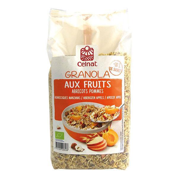 CELNAT Granola aux fruits abricots-pommes 375g  CELNAT