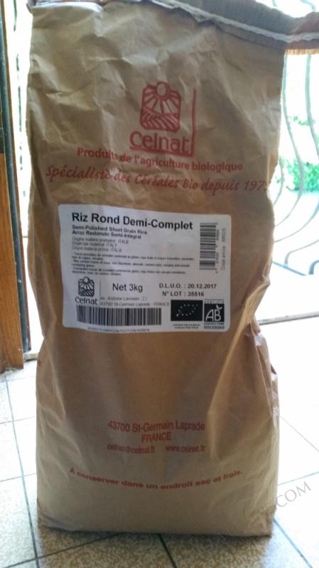 CELNAT Riz rond 1/2 complet 3kg  CELNAT