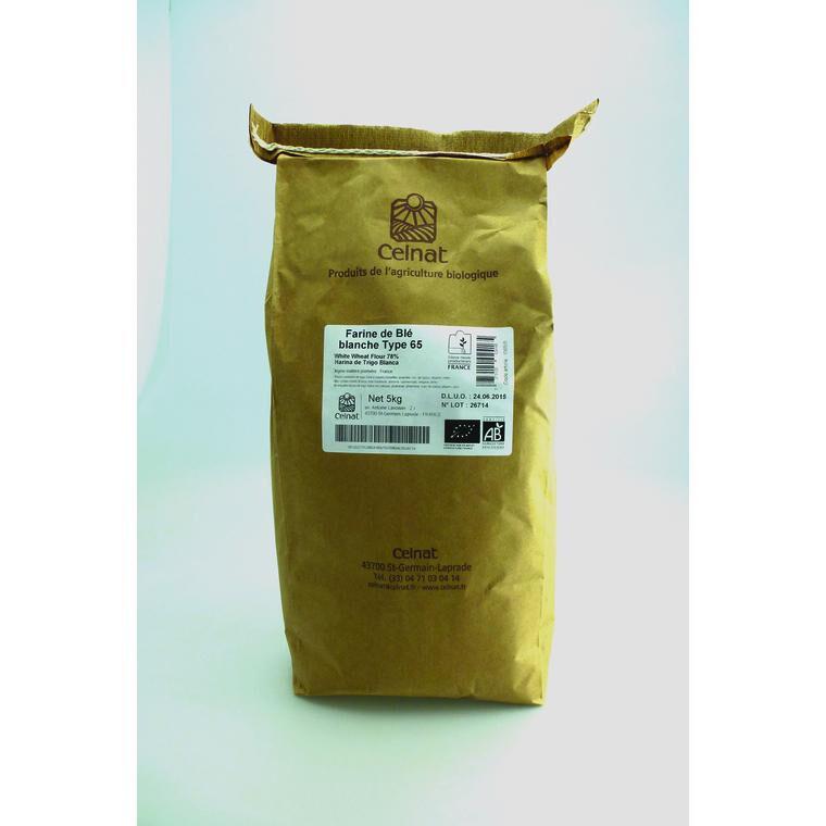 CELNAT Farine de blé blanche t65 5kg  CELNAT