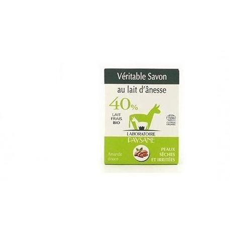 ECOCERT Savon au lait d'ânesse 40 % à l'amande douce bio