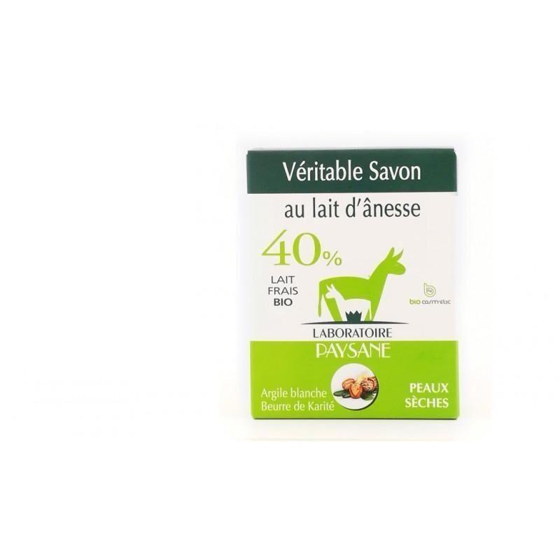 Les Essentiels D'isabelle Savon au lait d'ânesse 40% argile blanche et beurre de karité 100G