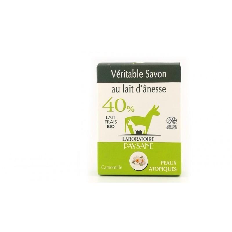 ECOCERT Savon au lait d'ânesse 40 % à la camomille Bio