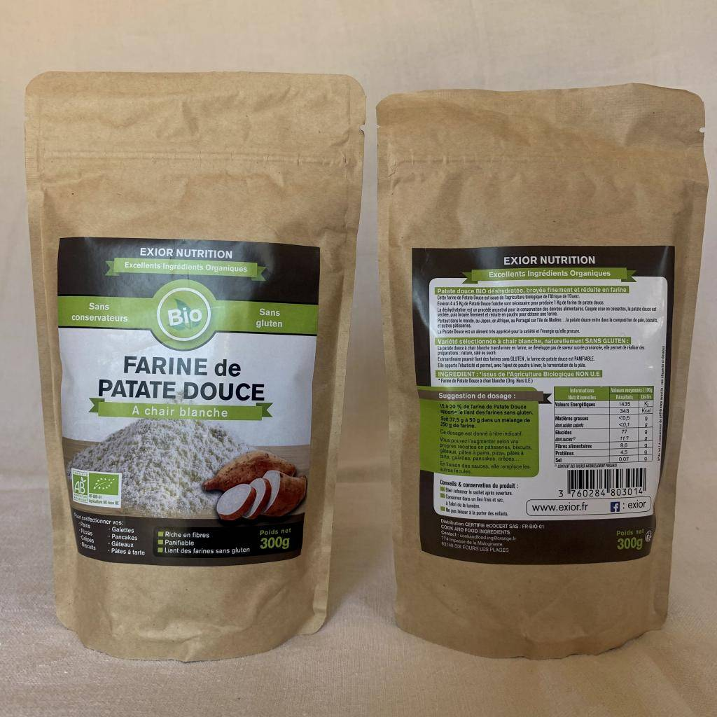 EXIOR NUTRITION Farine de patate douce 300g